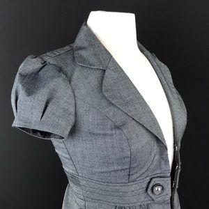 IZ Byer Puff Sleeve Dark Gray Jacket